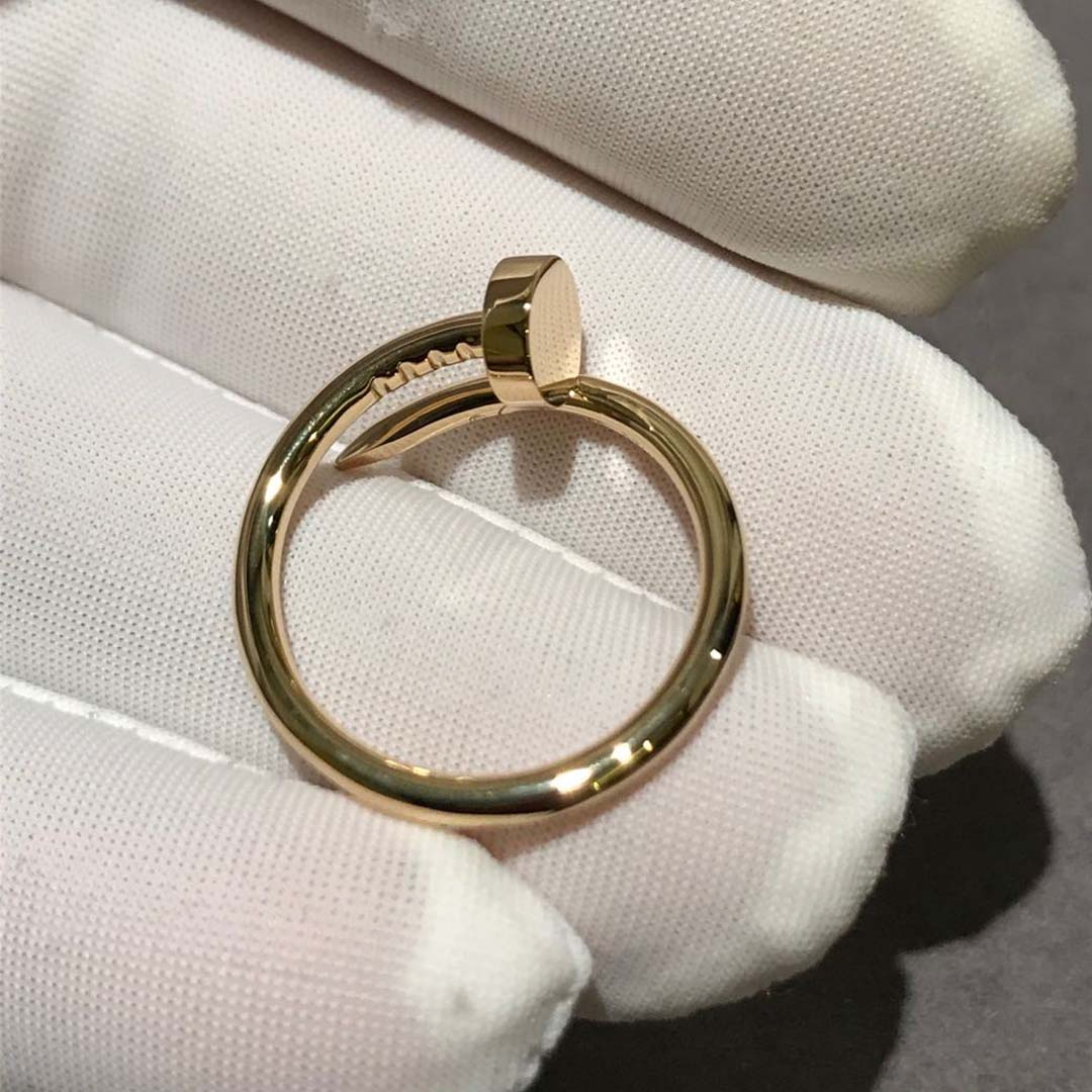 Cartier 18k Yellow Gold 1.8MM Band Juste Un Clou Small Model Ring B4225900
